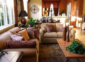 Staging your home welcome home realty group - Asian themed living room decor ...